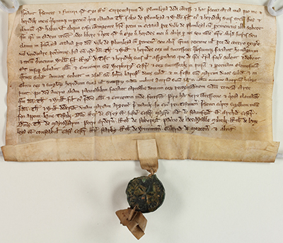 Medieval Deed on parchment